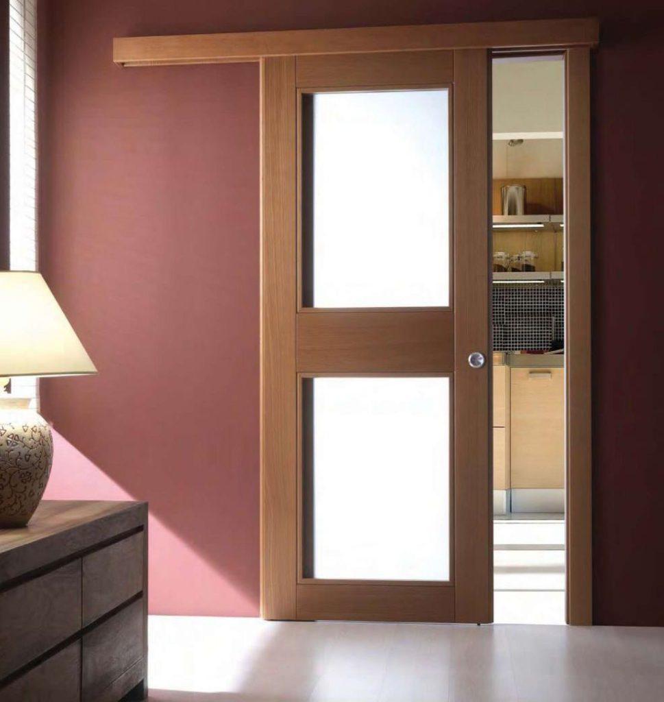 Накладные раздвижные двери на кухню