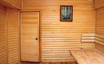 дверь с обшивкой из вагонки