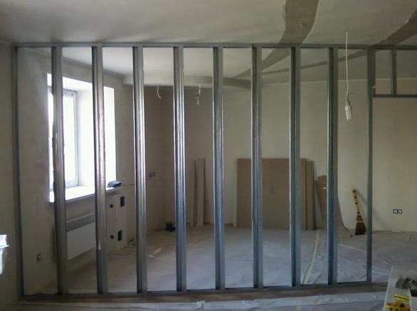 Как сделать гипсокартонную стену с проемом под дверь