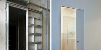 как установить гипсокартонную перегородку под дверь