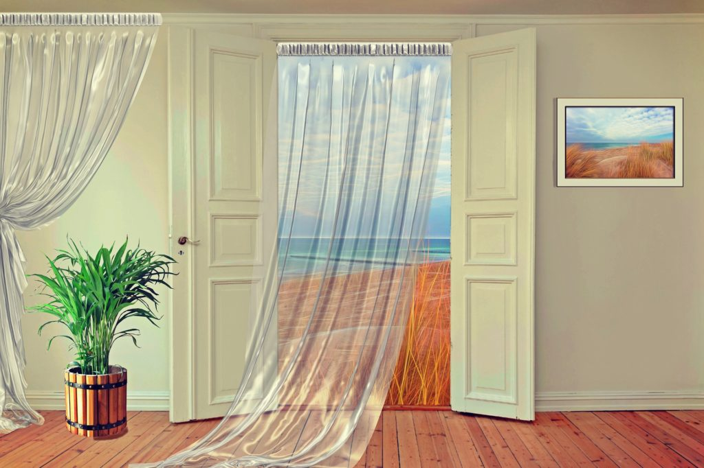 шторы для дверного проема фото